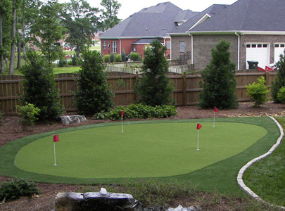 how to make a real golf green in your backyard